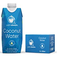 Palmdream Coconut Water - 100% Natural - No Sugar Added - 330 ml (Pack of 12)