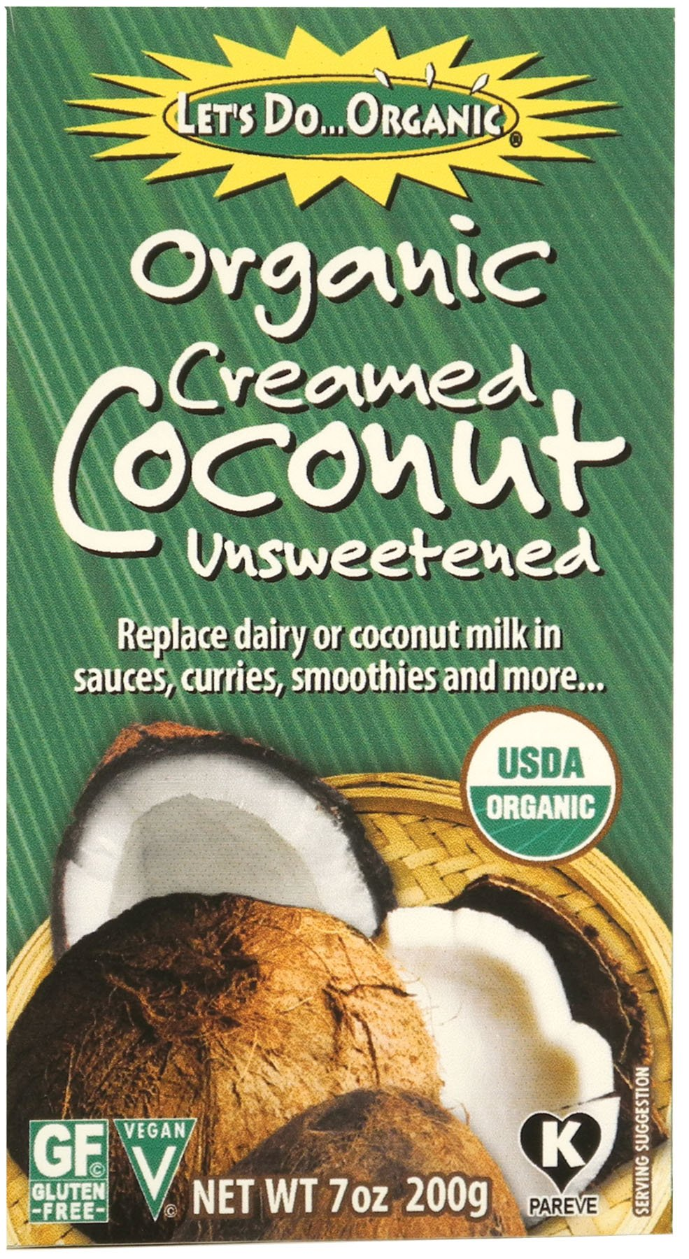 'Let's Do Organic Creamed Coconut, 7-Ounce Boxes (Pack of 6)' from the web at 'https://images-na.ssl-images-amazon.com/images/I/817eWWvXPzL.jpg'
