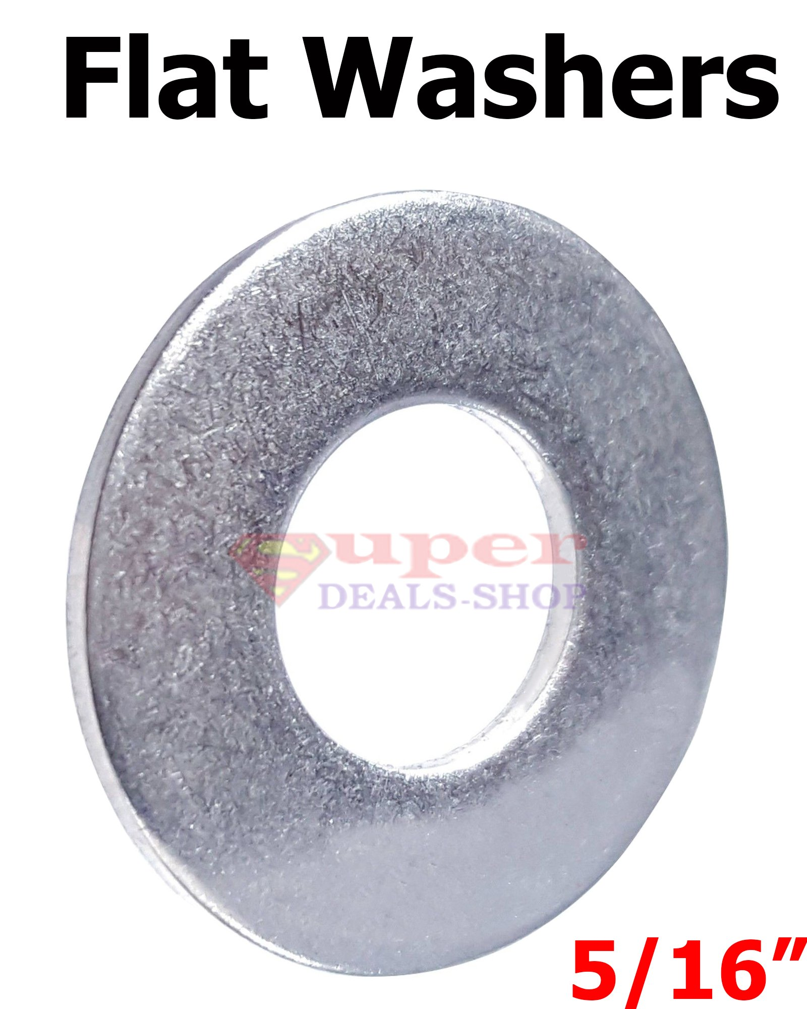 250 Pcs 5/16 Stainless Steel Flat Washers SS Flat Washer Flats Super-Deals-Shop