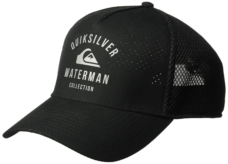 hot sale online 271ff b86e0 Amazon.com  Quiksilver Waterman Men s Turf Kicker Trucker Snap Back, Black,  1SZ  Clothing