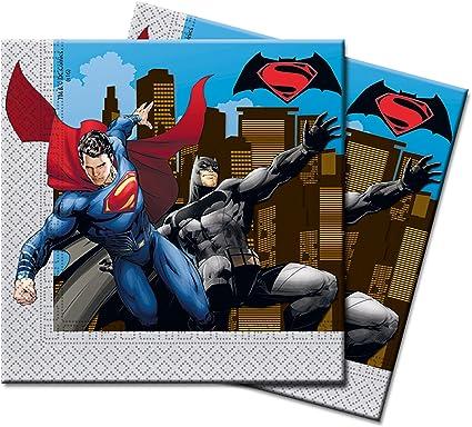 Serviilletas de papel de Batman vs Superman, 20 unidades: Amazon ...