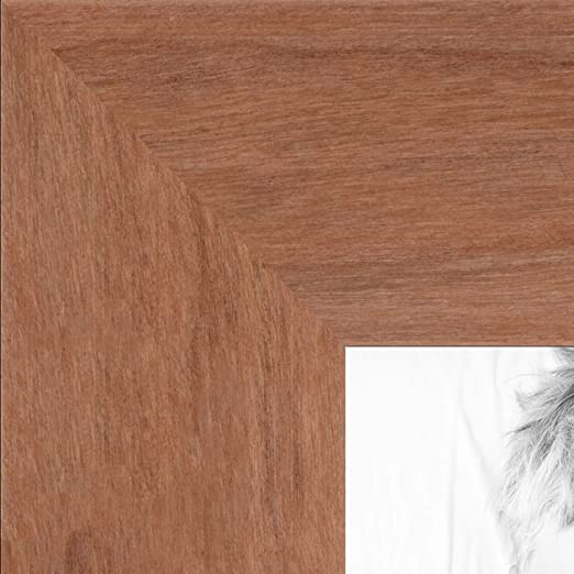 """ArtToFrames Custom Picture Poster Frame Stained Cherry Red 1.5/"""" Wide Wood"""
