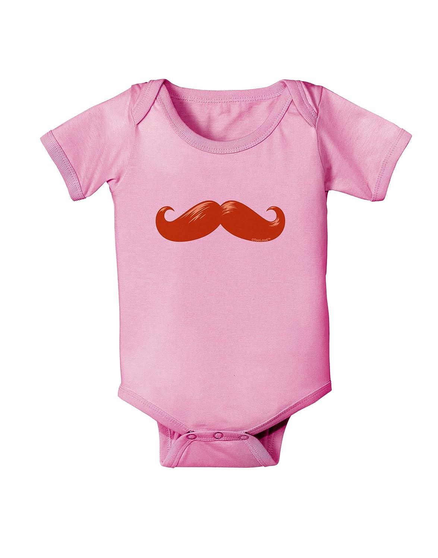 TooLoud Big Redhead Mustache Baby Romper Bodysuit