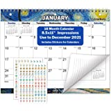 CRANBURY Small Wall Calendar 2020-2021 - (Impressions) Monthly Calendar for Binder, Desk or Wall, 8.5x11 Inches, Use Now…