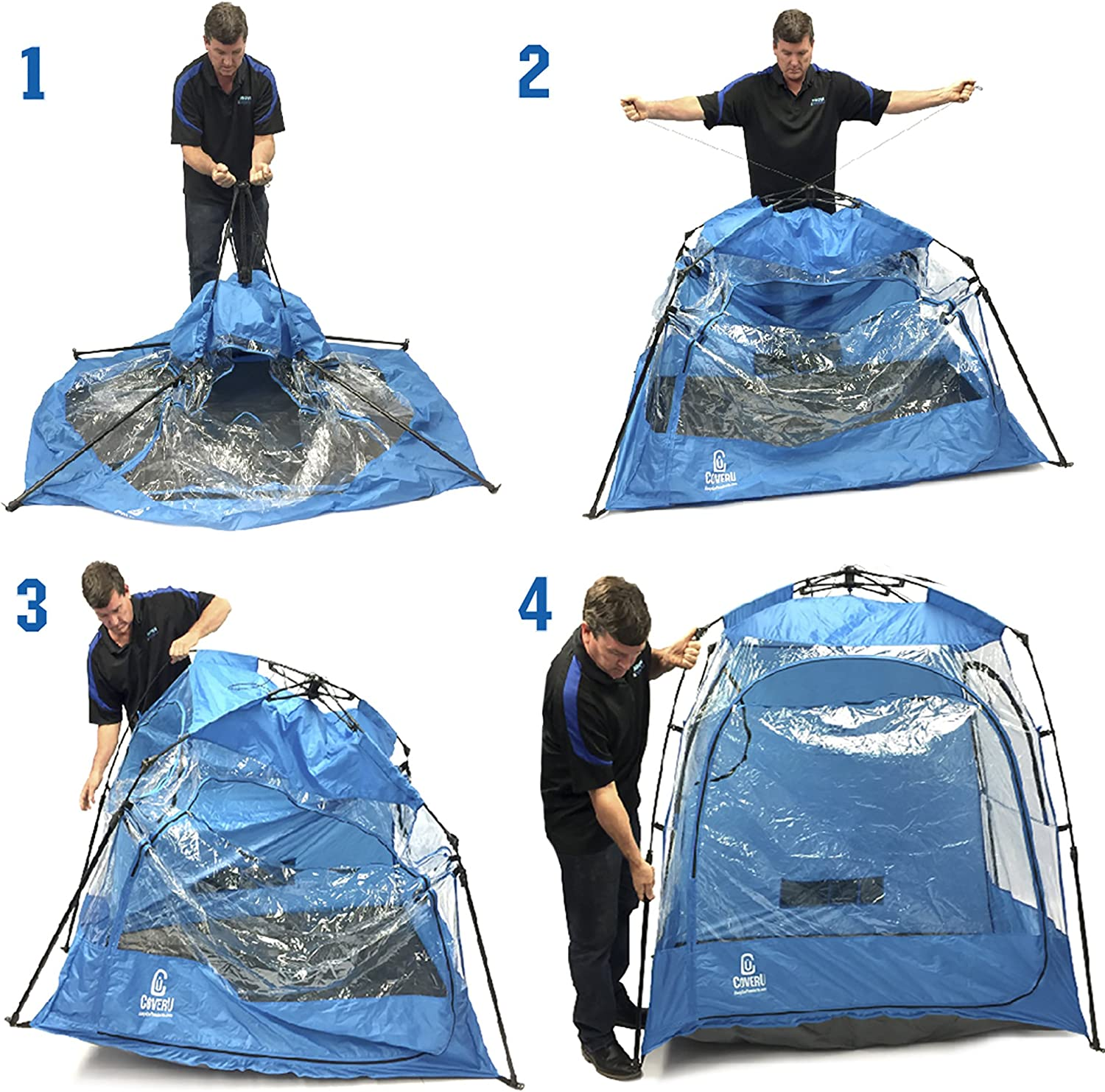EasyGoProducts CoverU Sports Shelter 2 Person Weather Tent