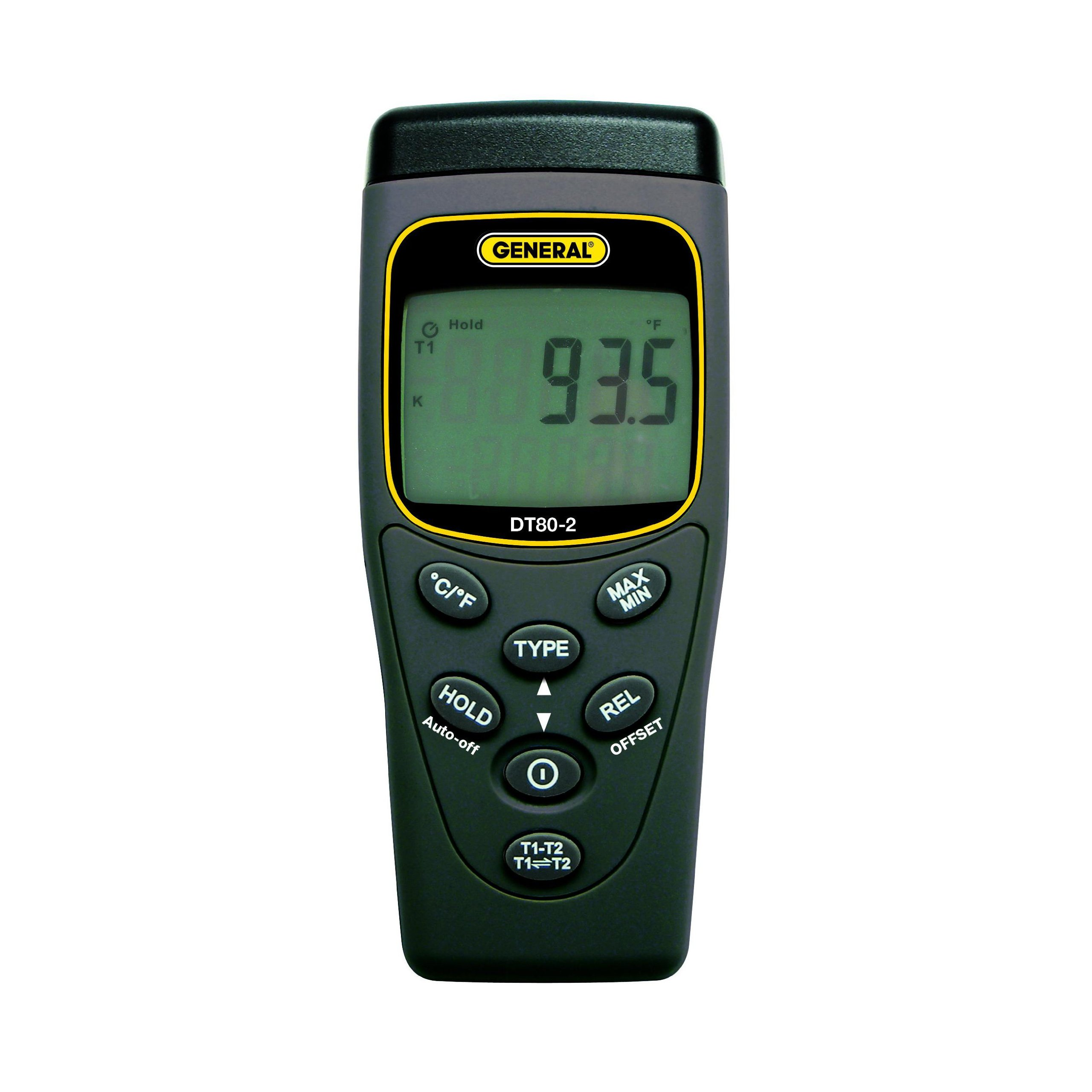 Economical Type K/J Thermocouple Thermometer Dual Input