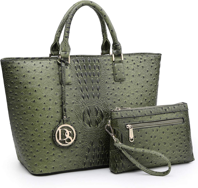 Womens Leather Top Handle Shoulder Handbag Vair Large Work Tote Bag
