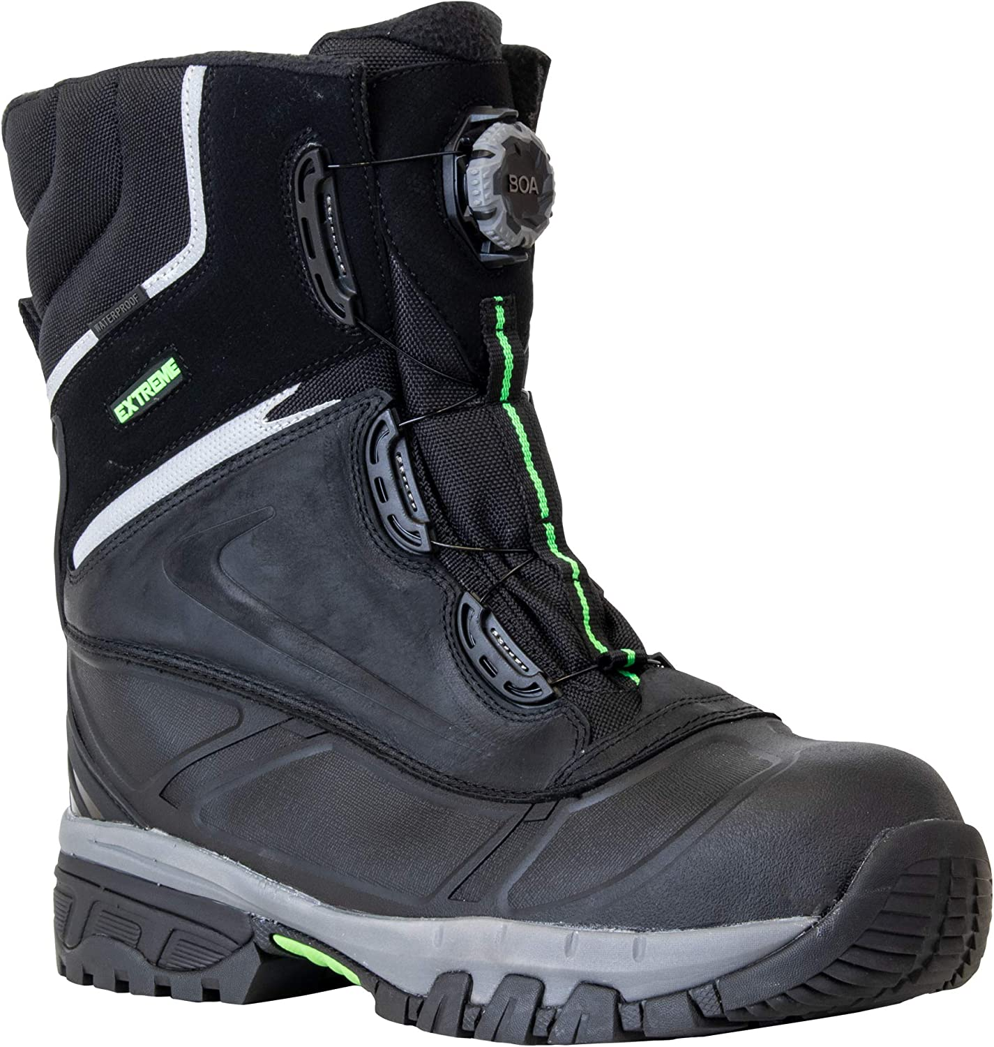 RefrigiWear Men's Waterproof Anti-Slip Extreme Pac Boots with Boa Fit System For Lacing