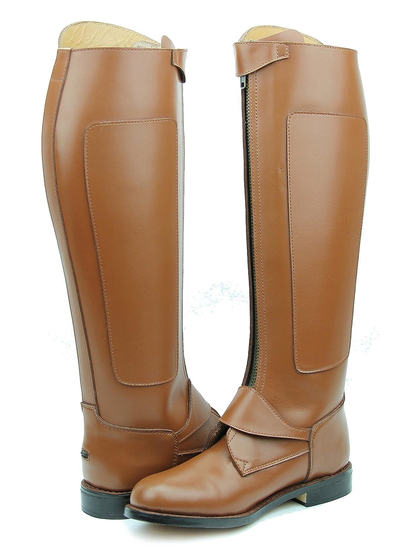 Hispar invader-2 ManメンズTall Knee HighレザーEquestrian Poloブーツ 7 Wide Calf タン B01M1L9BHH