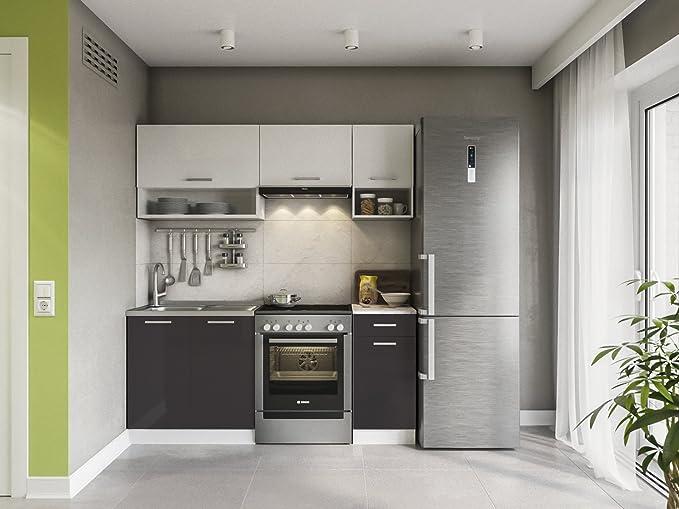 Eldorado de Muebles Cocina Lux 180 cm Negro línea de Cocina Cocina Bloque Completo Cocina Instalación de Cocina: Amazon.es: Juguetes y juegos