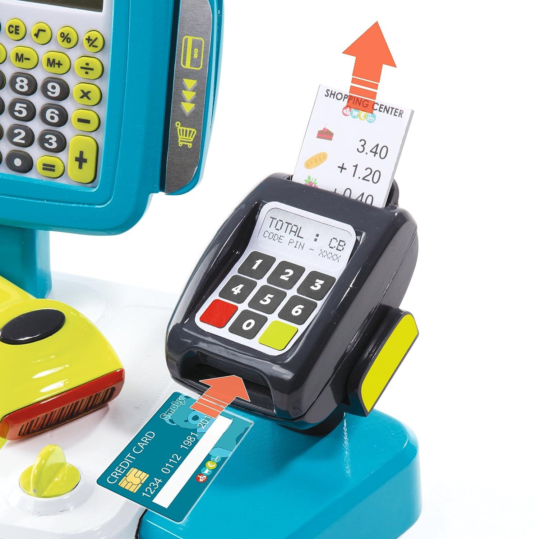 Caja registradora grande con calculadora y accesorios (Smoby 350105): Amazon.es: Juguetes y juegos
