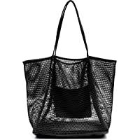 Mesh Beach Tote Womens Shoulder Handbag