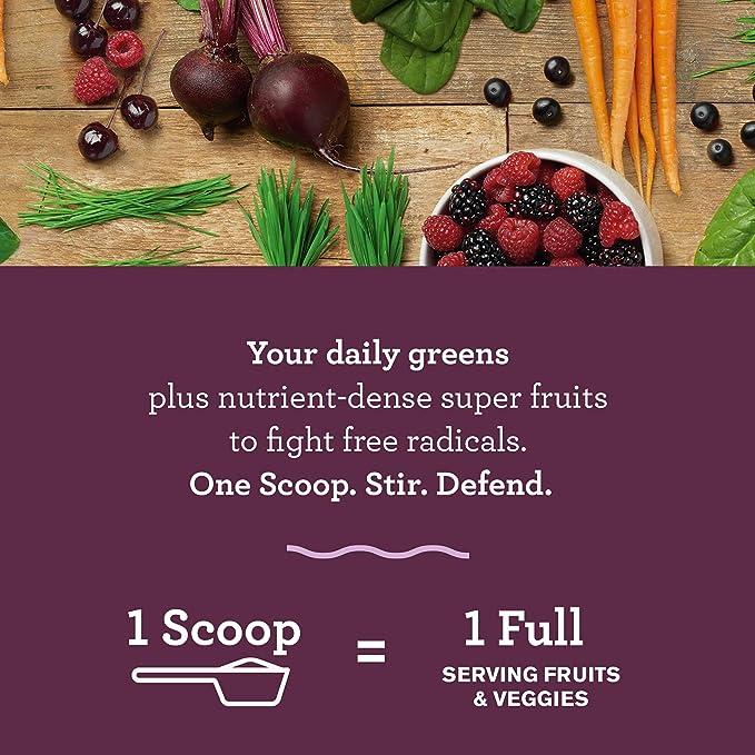 Amazing Grass Green Superfood, Suplemento Alimenticio en Polvo a base de Frutas, Verduras y Superalimentos Organicos con Probioticos y Enzimas Digestivas, Antioxidante - Bayas Dulces: Amazon.es: Salud y cuidado personal