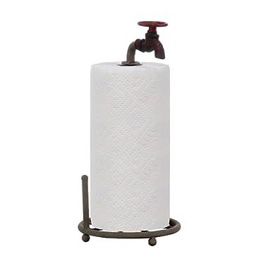 Creative Co-Op DA0075 Rustic Metal Faucet Paper Towel Holder