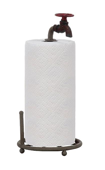 Creative Co Op DA0075 Metal Faucet Design Paper Towel Holder, 15 Inch