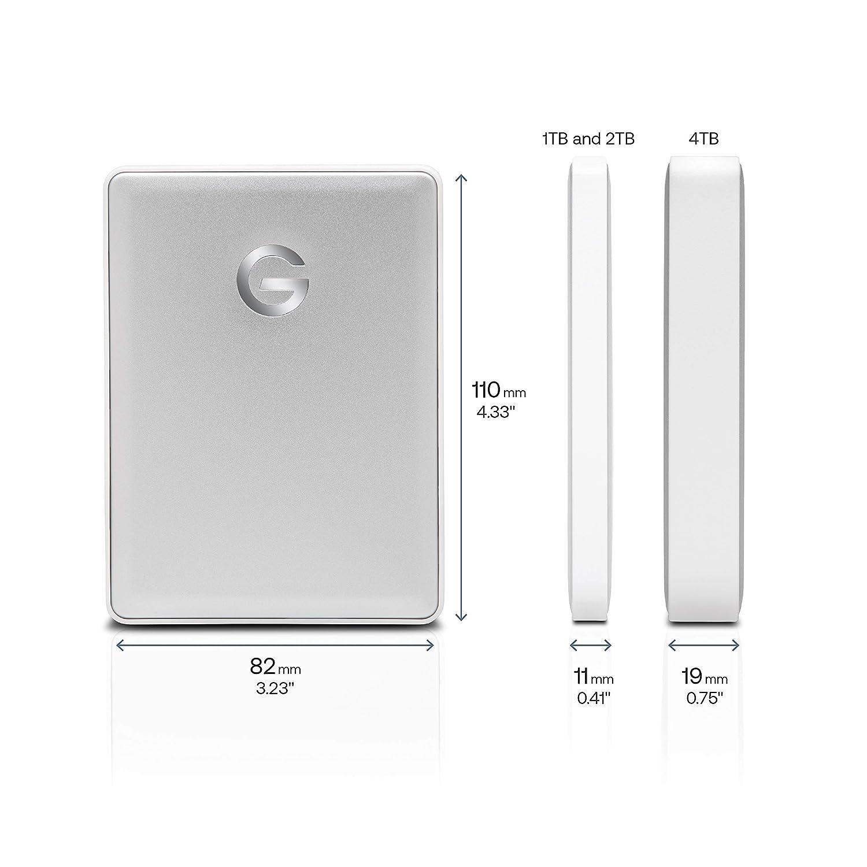 Oro G-Technology G-DRIVE Mobile 2 TB con USB-C