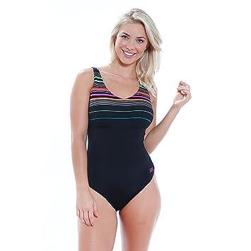 Zoggs Womens Formula V Neck Clip Back Swimming Costume Amazonco