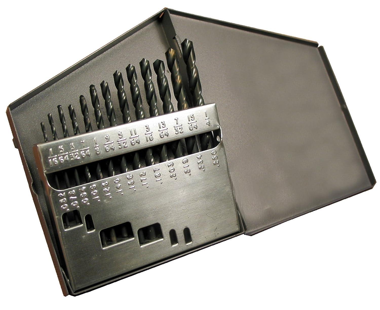 13-piece Alfa Tools S250194 High-Speed Steel Eco Pro 135-degree Split Point Set
