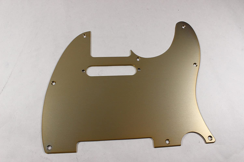 Brushed Gold Anodized Aluminum Tele Pickguard USA MADE! Fits Fender Telecaster