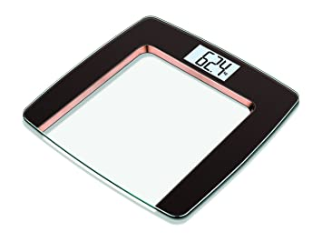 Beurer GS490 Luxury Glass Bathroom Scales With Copper Trim