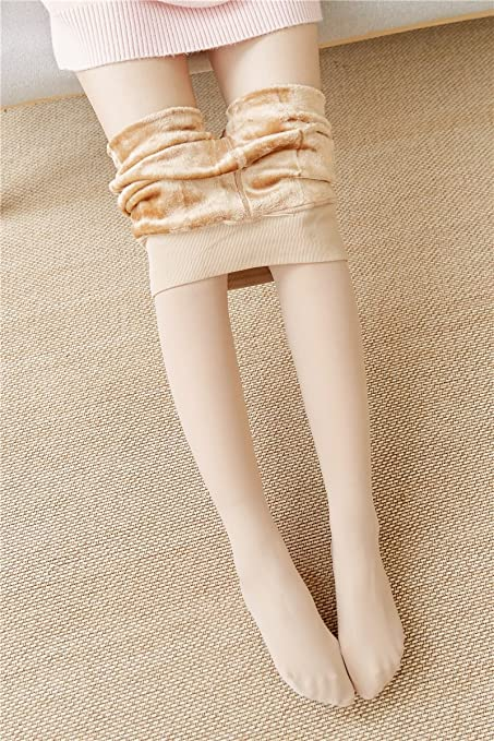 4c3be363c69 Generic Thin cashmere plus velvet thick flesh-colored pantyhose autumn and  winter color stockings Step