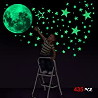 Konsait Luminoso Pegatinas de Pared, 435pcs Puntos Luna