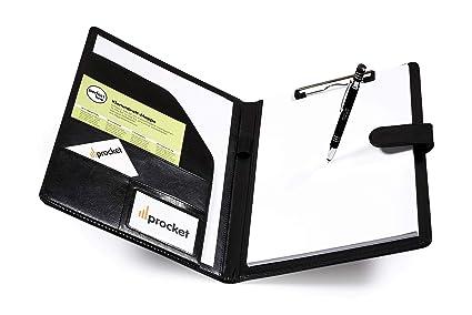 Block DIN A4 Schreibmappe Dokumenten Akten Schreib Konferenz Mappe incl