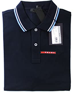 cccc72bc571c Prada Short Sleeve Polo Shirt Brand Black for Men and Piquet Model ...
