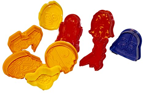 MSC Star Wars Moldes 9 TL. Plastilina Moldes Decoración para tartas fondant mazapán