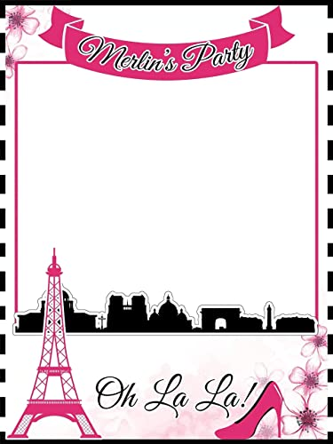 Custom Paris Photo Booth Prop - Sizes 36x24, 48x36