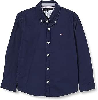 Tommy Hilfiger Twill Flagblock Shirt L/S Camisa para Niños