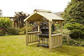 Home Gift Garden - Cobertizo para barbacoa, de madera maciza, para uso al aire