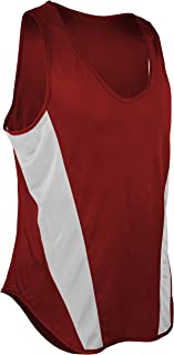 product image for TR-522Y-CB Youth Unisex Sprint Single Ply Lightweight Track Singlet with Panels (X-Large, Red/White)