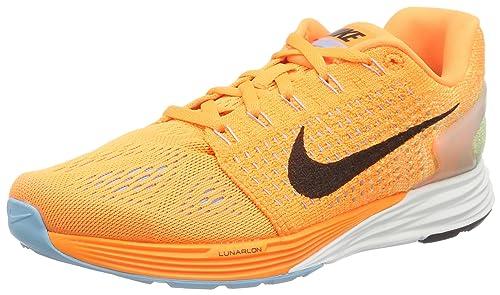 more photos b9d8a 258c8 NIKE Women s Lunarglide 7 Running Shoes Orange Orange (Bright Citrus Black Td  Pl