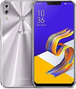 "ASUS ZenFone 5Z (ZS620KL-S845-6G64G) - 6.2"" FHD+ 2160x1080 display - 6GB RAM - 64GB storage - LTE Unlocked Dual SIM Cell Phone - US Warranty - Meteor Silver"