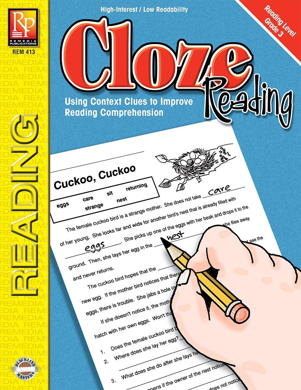 Read Online Cloze Reading (Reading Level 3)  Reproducible Activity Book ebook