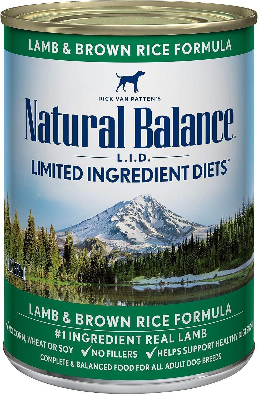 Natural Balance LID Lamb & Brown Rice Formula Canned Food
