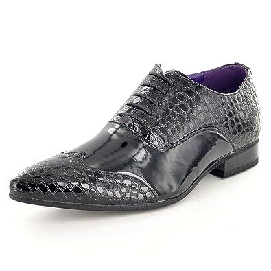 Moda para hombre Italiano Vestido Zapatos - Negro, 43 EU