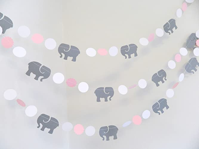 Exceptional Pink U0026 Gray Elephant Baby Shower Decorations / Gray Elephant Nursery  Decoration   Pink And Gray