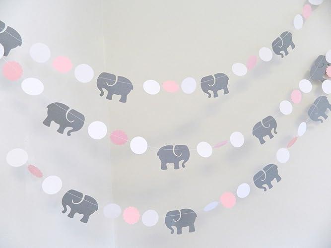 Amazon Pink Gray Elephant Baby Shower Decorations Gray
