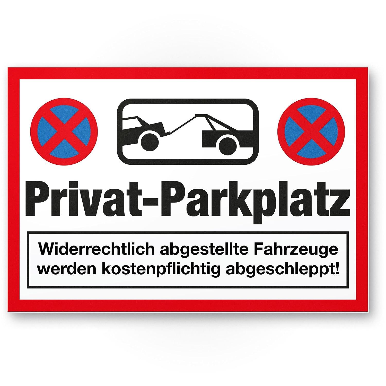 Plaque de parking Privé - parkverbot (Blanc, 30 x 20 CM ...