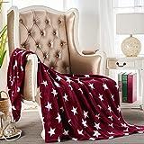 "JYK Flannel Fleece Throw Blanket, 50""x60"", Super Soft Plush Microfiber Fuzzy Blanket, Lightweight Fluffy Throw Blanket for Co"