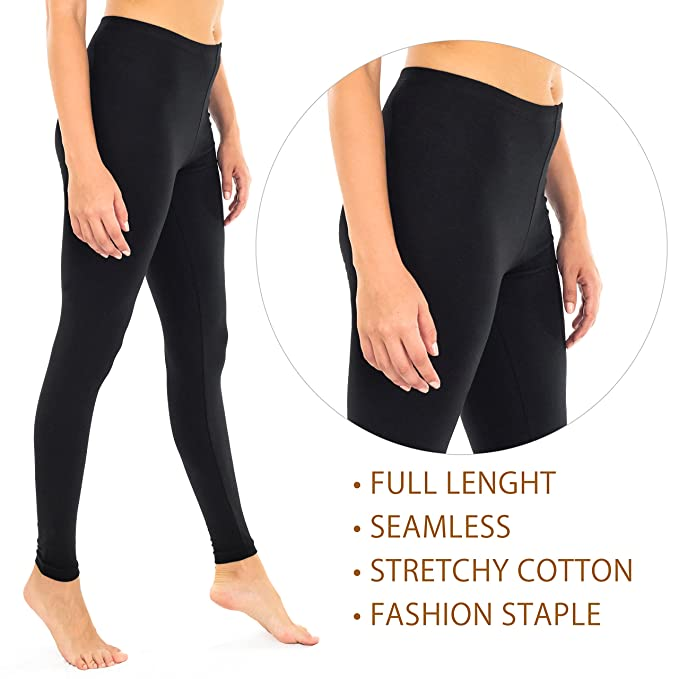 e89d4c49a2bb52 DEAR SPARKLE Cotton Capri Leggings for Women with Pockets | Womens Yoga  Workout Crop Capris Tights