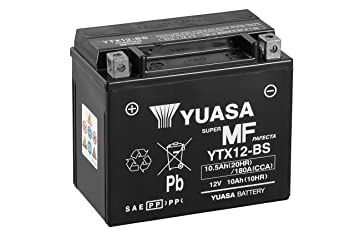 Batterie YUASA YTX12-BS AGM offen mit Saeurepack
