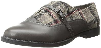 Bella Vita Women's Reese Boat Shoe, Black/Grey Flannel, 6 N US