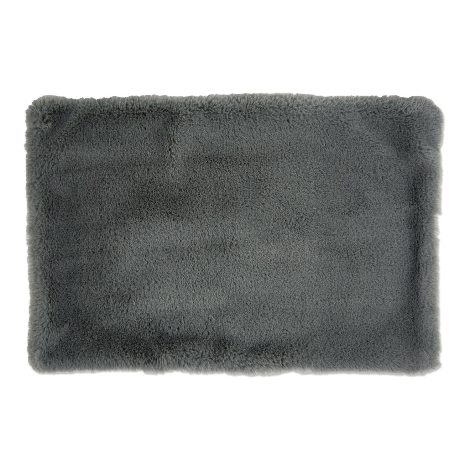 DII Bone Dry Faux Fur Silky Soft XXX-Large Pet Cage Liner for Dogs & Cats, 29X48'', Perfect for Kennels, Car Trips, Floors, Crates-Gray