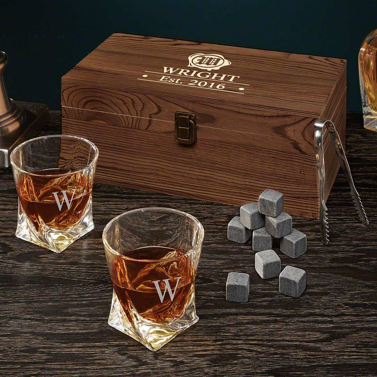 Wax Seal Personalized Whiskey Set (Customizable Product)