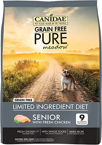4 LBS, Made with Fresh Chicken Dry Dog Food for Seniors