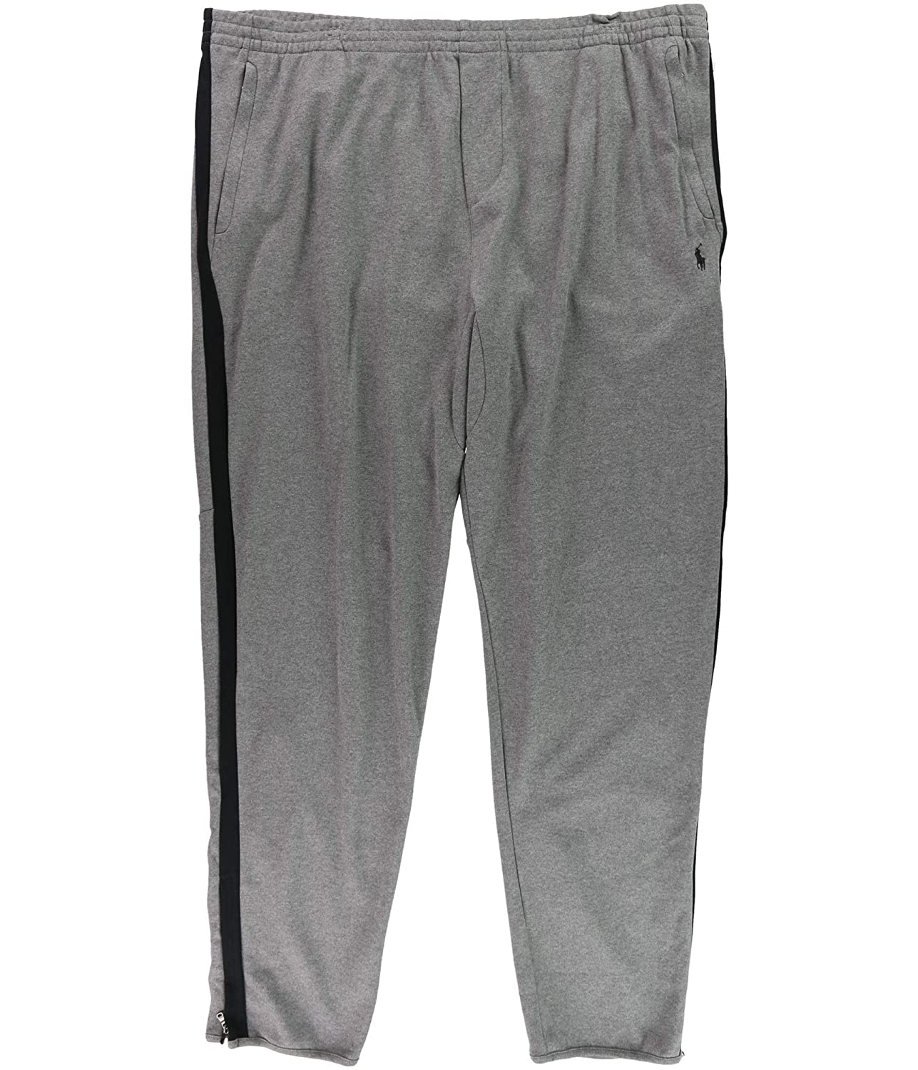 RALPH LAUREN Polo Men's Big & Tall Knit Cotton Track Pant, Foster Grey Heather 711676847002