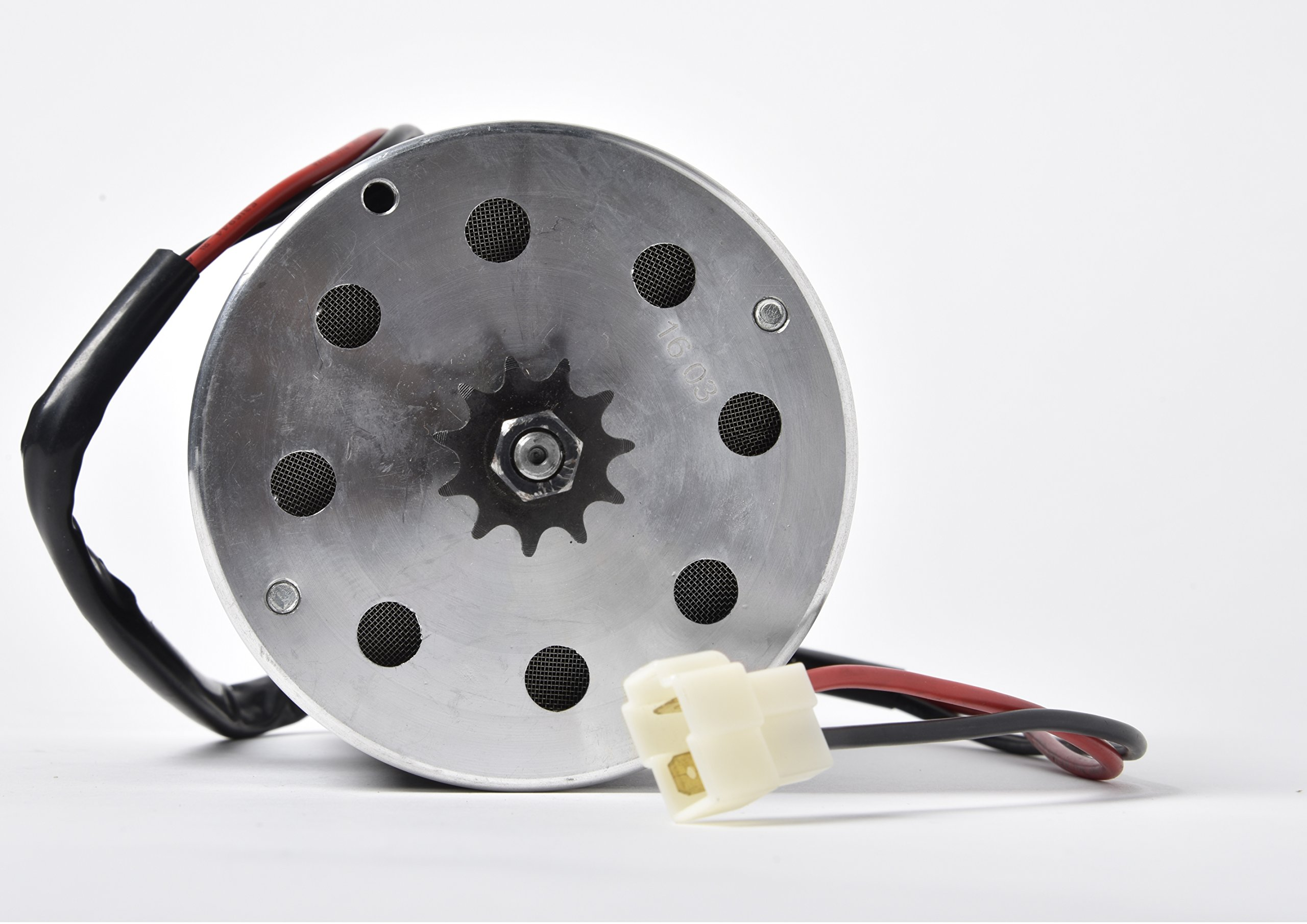 Electric Motor 36 Volt DC 500 Watt 24 Amp for Scooter Bike Go-kart Mini Bikes Model Numbers MY1020 Reversible with 11 teeth sprocket #25 chain 6.35 pitch